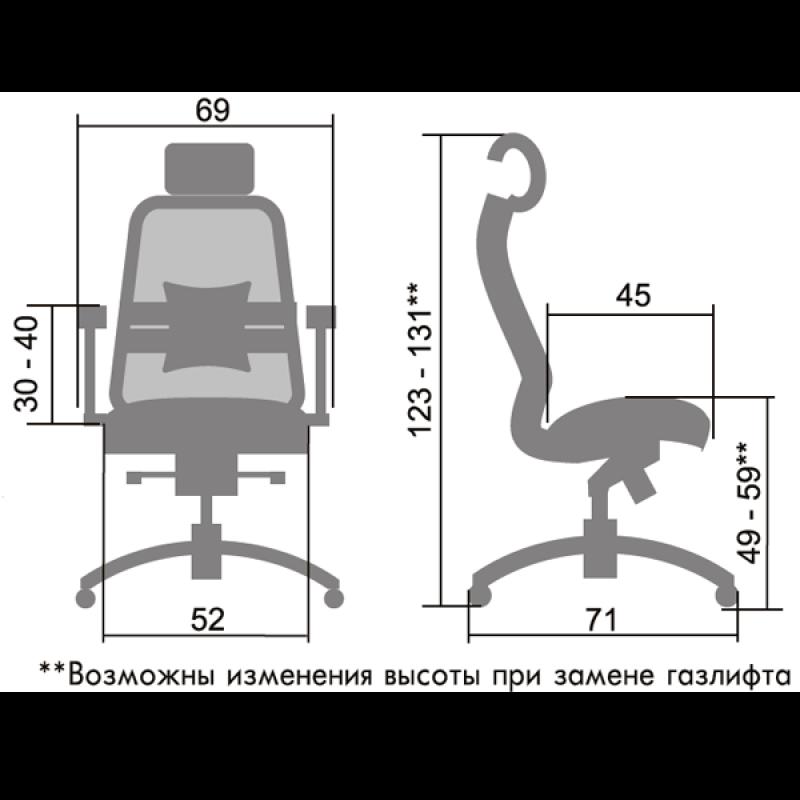 SAMURAI S-3.02 - компьютерное кресло от компании Метта в Минске купить с доставкой по РБ