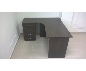 Стол для персонала П-1У-Л, дуб венге