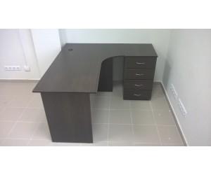 Угловой стол для персонала, дуб венге