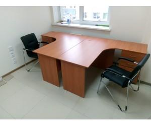 Комплект офисной мебели, вишня