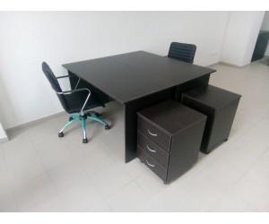 Набор офисной мебели на 2 рабочих места, венге. В НАЛИЧИИ