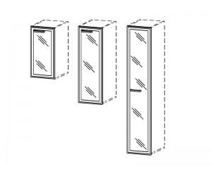 Двери стеклянные в Al раме