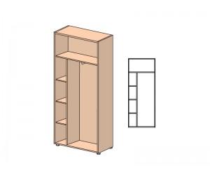 Шкаф для одежды с полками 104411