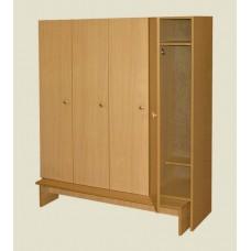 Шкаф четырехстворчатый для раздевалок