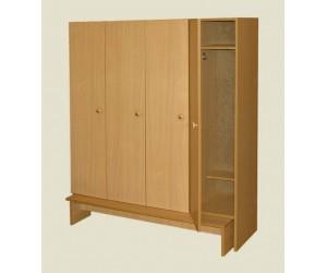 Шкаф для раздевалок четырехстворчатый
