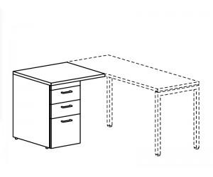 Тумба приставная для использования слева