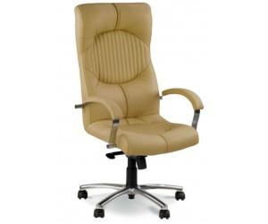 Кресло GERMES STEEL CHROME в коже LUX