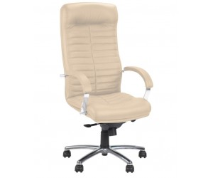 Кресло ORION STEEL CHROME в коже LUX