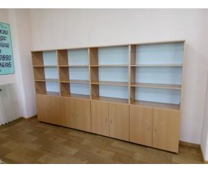 "Набор шкафов для офиса ""Практика-1""        цвет бук"