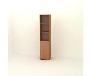 Шкаф узкий со стеклом  П-06.4