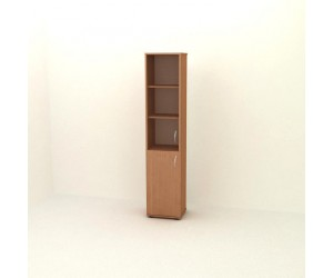 Шкаф узкий со стеклом  П-06-4