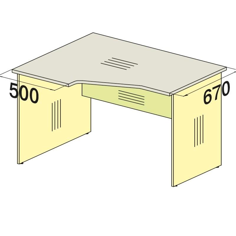 Стол угловой 76S014