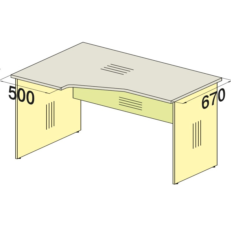 Стол угловой 76S017