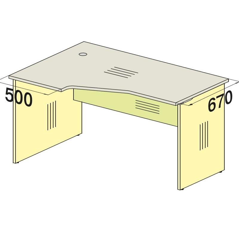 Стол угловой 76S058