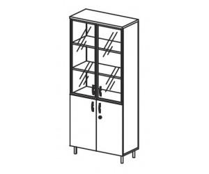 Шкаф комбинированный со стеклом В428