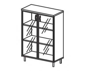 Шкаф со стеклом В417