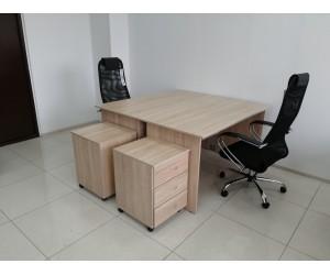 Набор офисной мебели на 2 рабочих места, дуб сонома. В НАЛИЧИИ