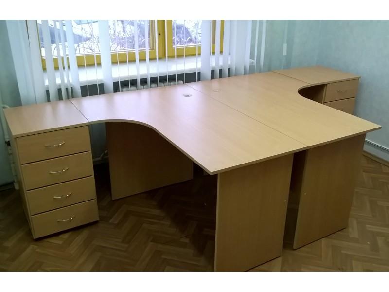 Стол для персонала на двух человек П2У-бук. В наличии!