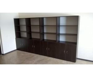 Набор шкафов для офисов, цвет венге