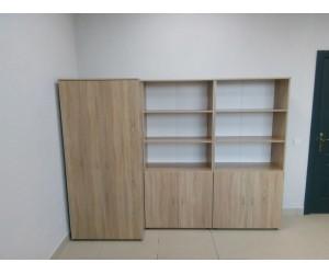 Набор шкафов для офиса, дуб сонома