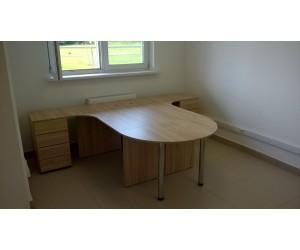 Комплект офисной мебели на два рабочих места П2У-дс, сонома