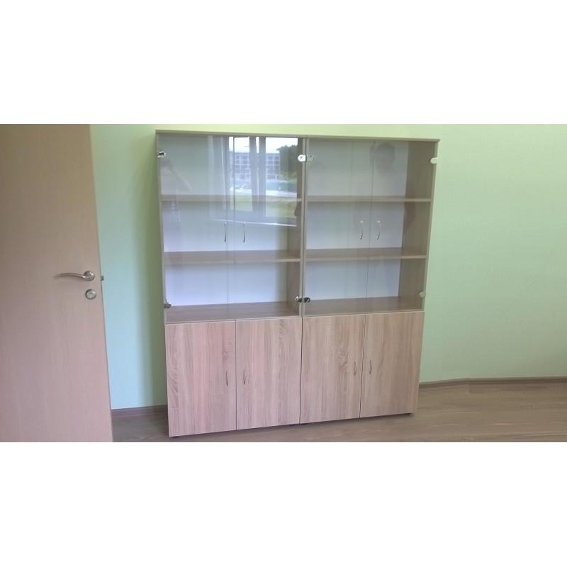 Шкафы со стеклянными дверцами П05-4