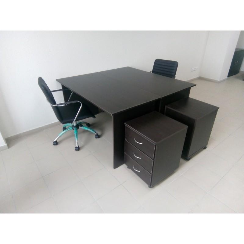 Офисные прямые столы и тумбы мобильные с доставкой по РБ