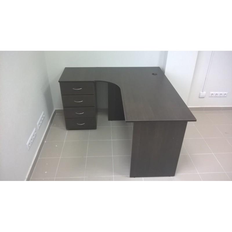 Угловой стол с тумбой приставной - для персонала. В наличии!