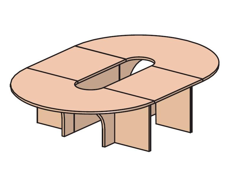 Стол для переговоров 2000х2000х735 мм