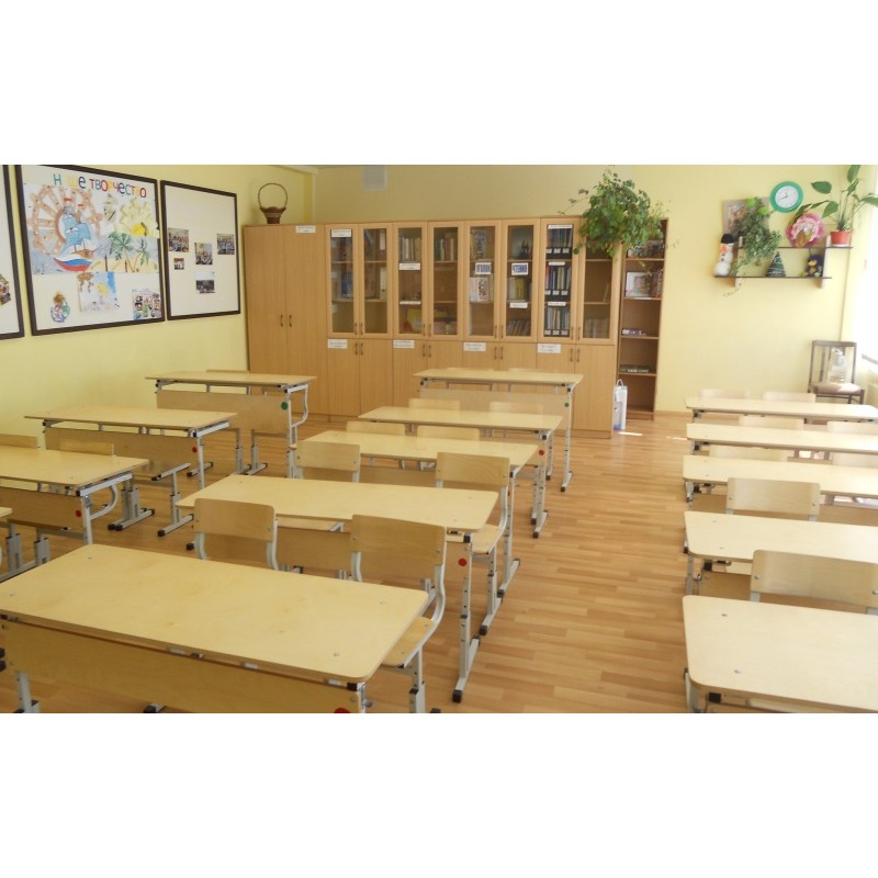 Комплект ученический двухместный. Школьная парта. Регулируемый