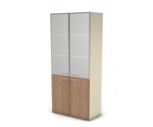 Шкаф для документов 49H032 с дверями из матового стекла