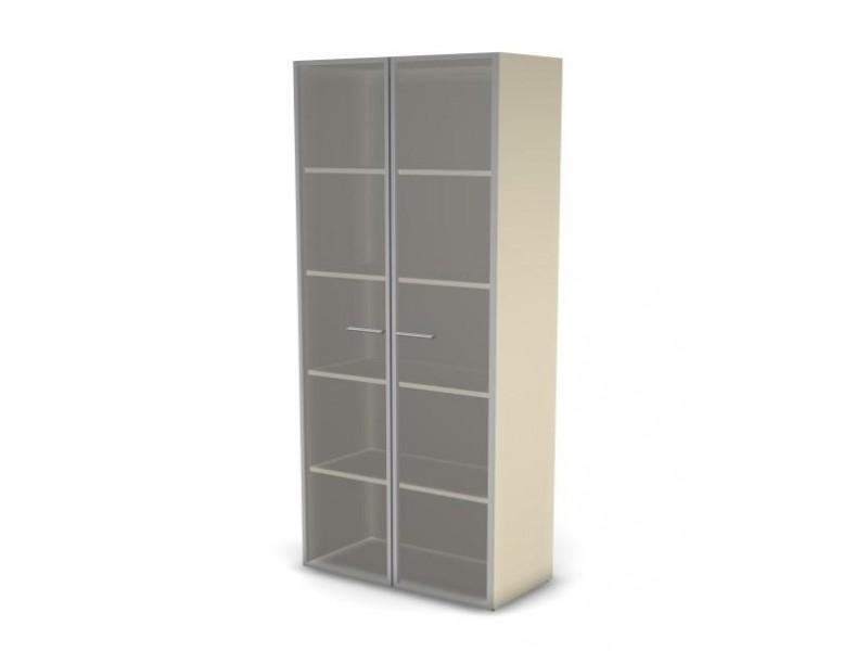 Шкаф для документов 49H032 с дверями из прозрачного стекла в раме