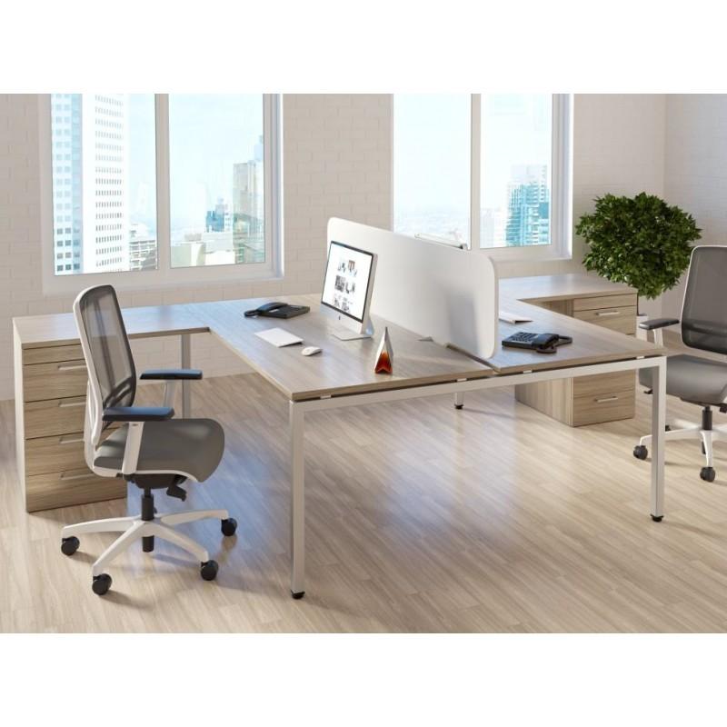 Тумба для офисных столов на металлокаркасе, лоток для канцтоваров