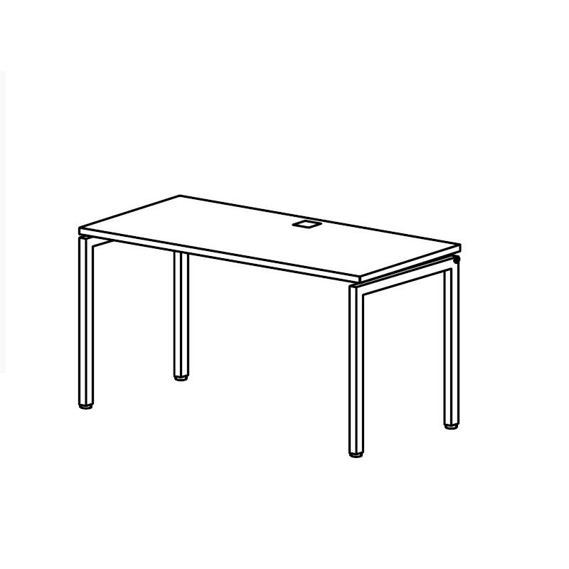Стол с проводником на металлокаркасе 1780*700*750 мм