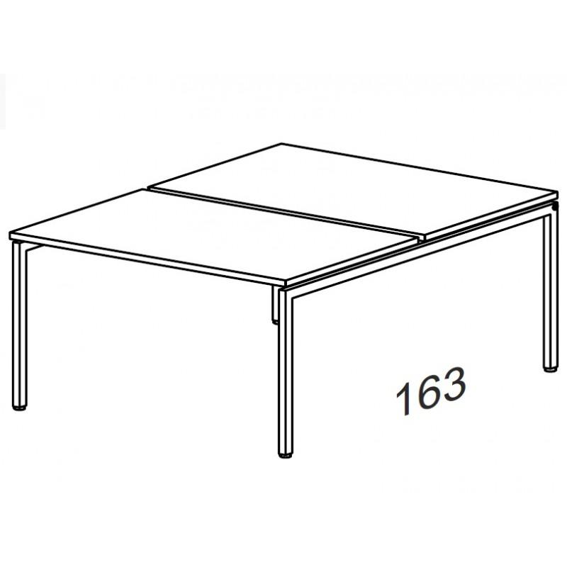 Сдвоенный стол на металлокаркасе 1780*1630*750 мм