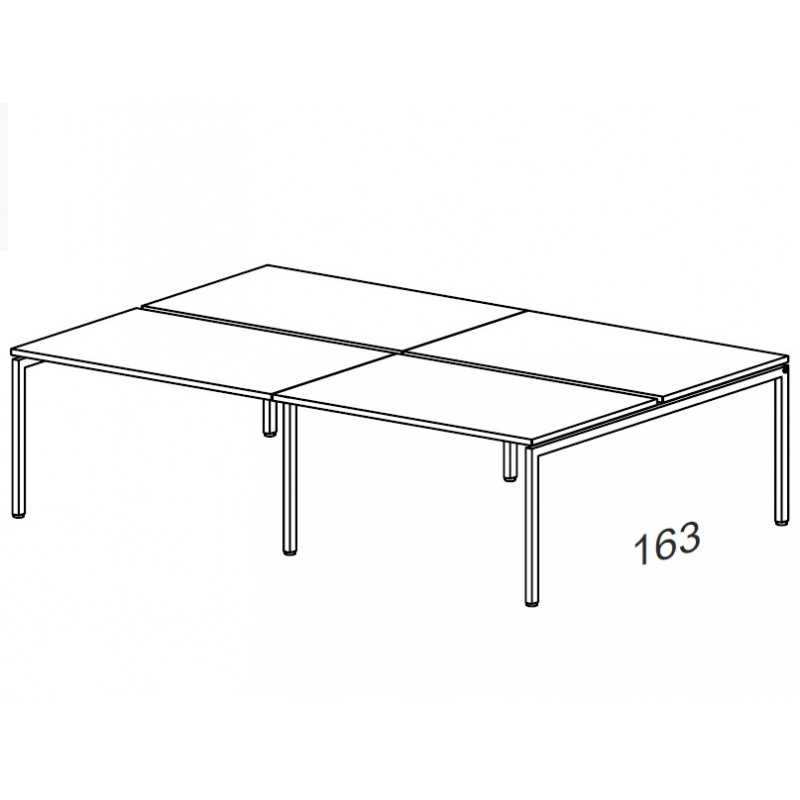 Стол комбинированный на металлокаркасе 3160х1630х750 мм