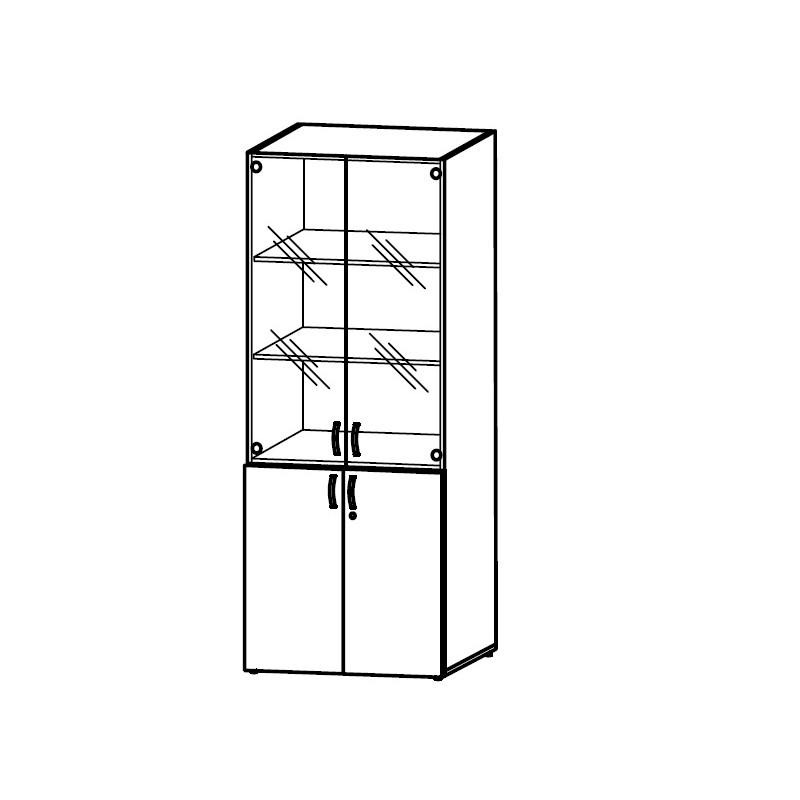 Шкаф для документов со стеклом КБ83.4511