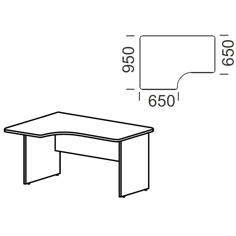 Стол угловой В-141М