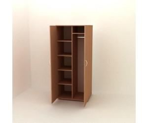 Шкаф для одежды с полками П-07