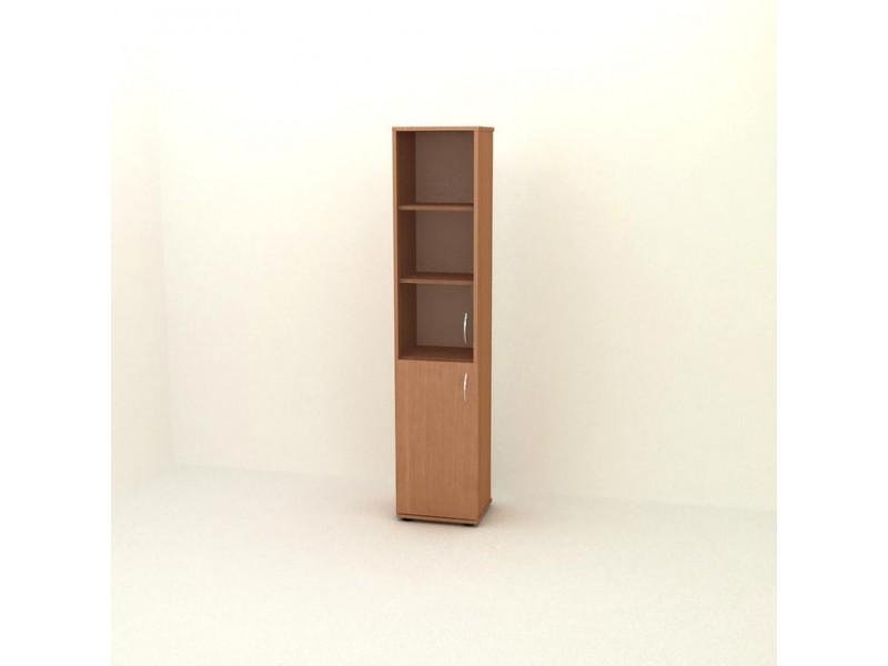 Шкаф узкий со стеклянной дверцей  П06.4