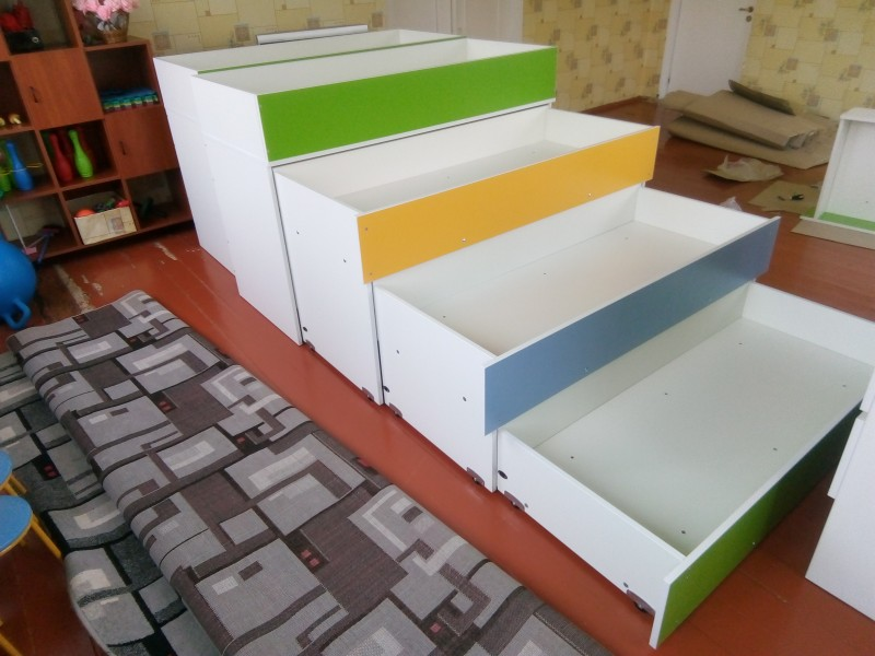 Кровать четырехъярусная для ДДУ