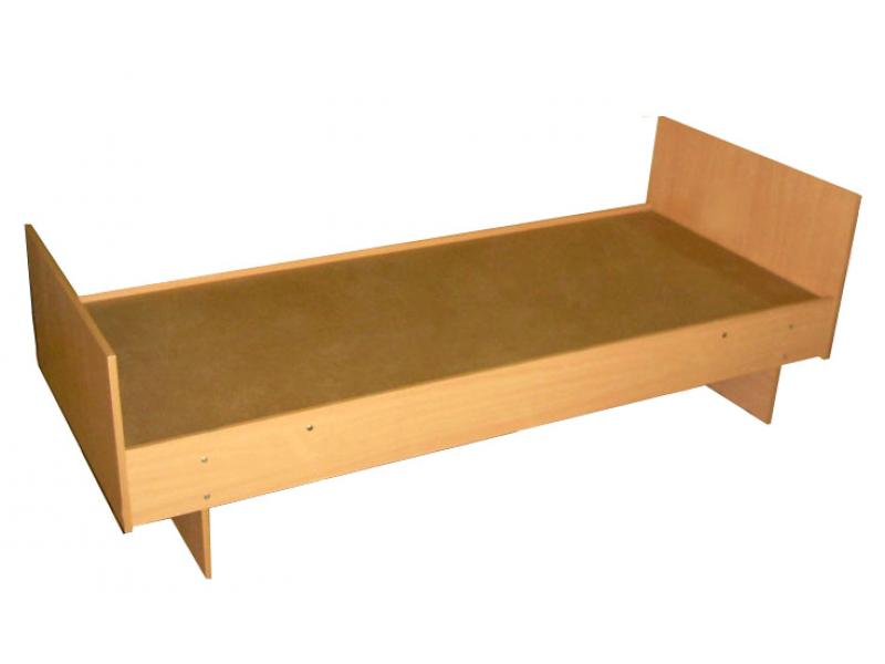 Кровать одинарная на деревянном основании