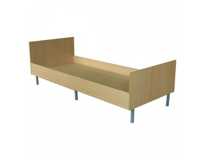 Кровать одинарная на металлокаркасе