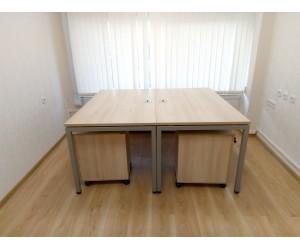 Оборудование мебелью на металлокаркасе  для двух офисных сотрудников