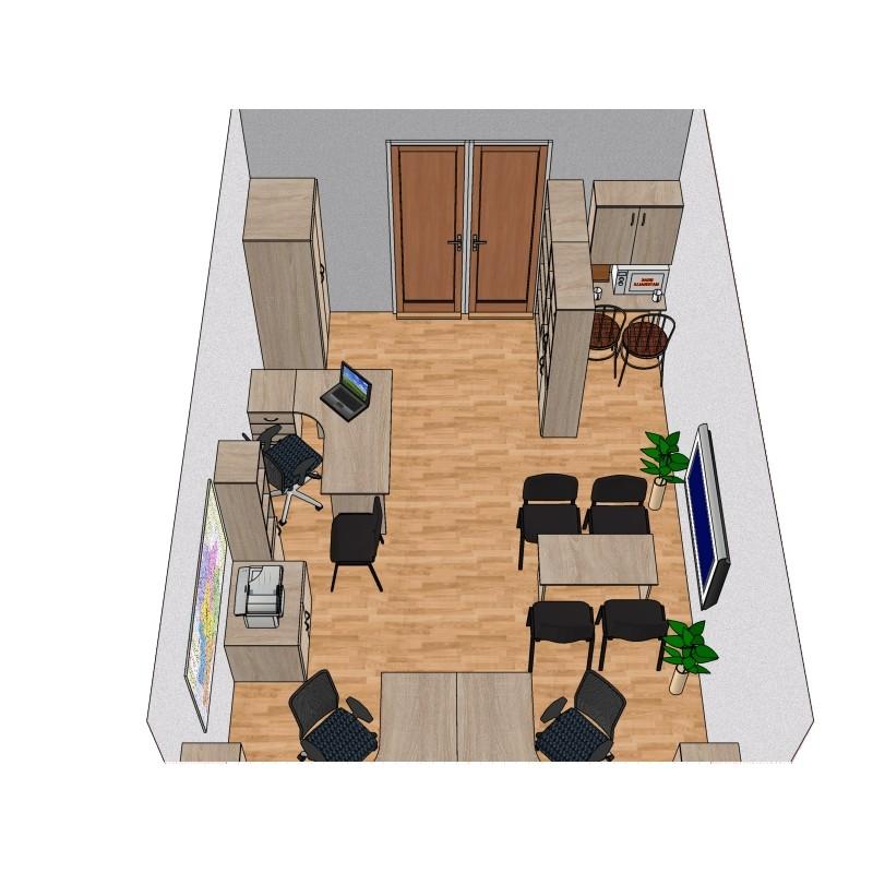Готовый проект офисной мебели №1