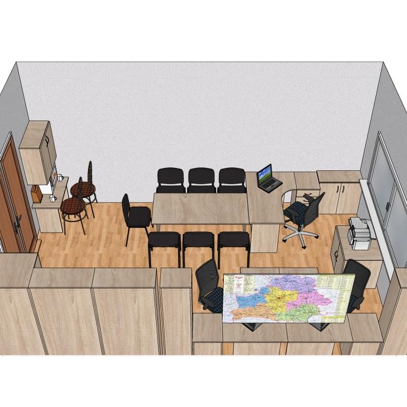 Готовый проект офисной мебели №2