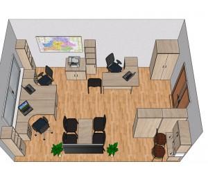 Готовый проект офисной мебели