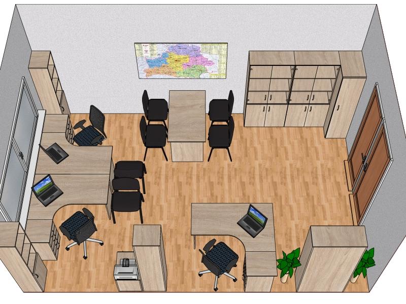 Готовый проект офисной мебели №3