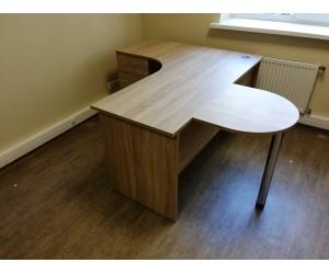 Угловой стол с приставкой R1-16U-L, дуб сонома. Столешница 22 мм!