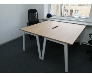 Набор столов на металлокаркасе Матрикс для двух человек 1580*1560*750 мм